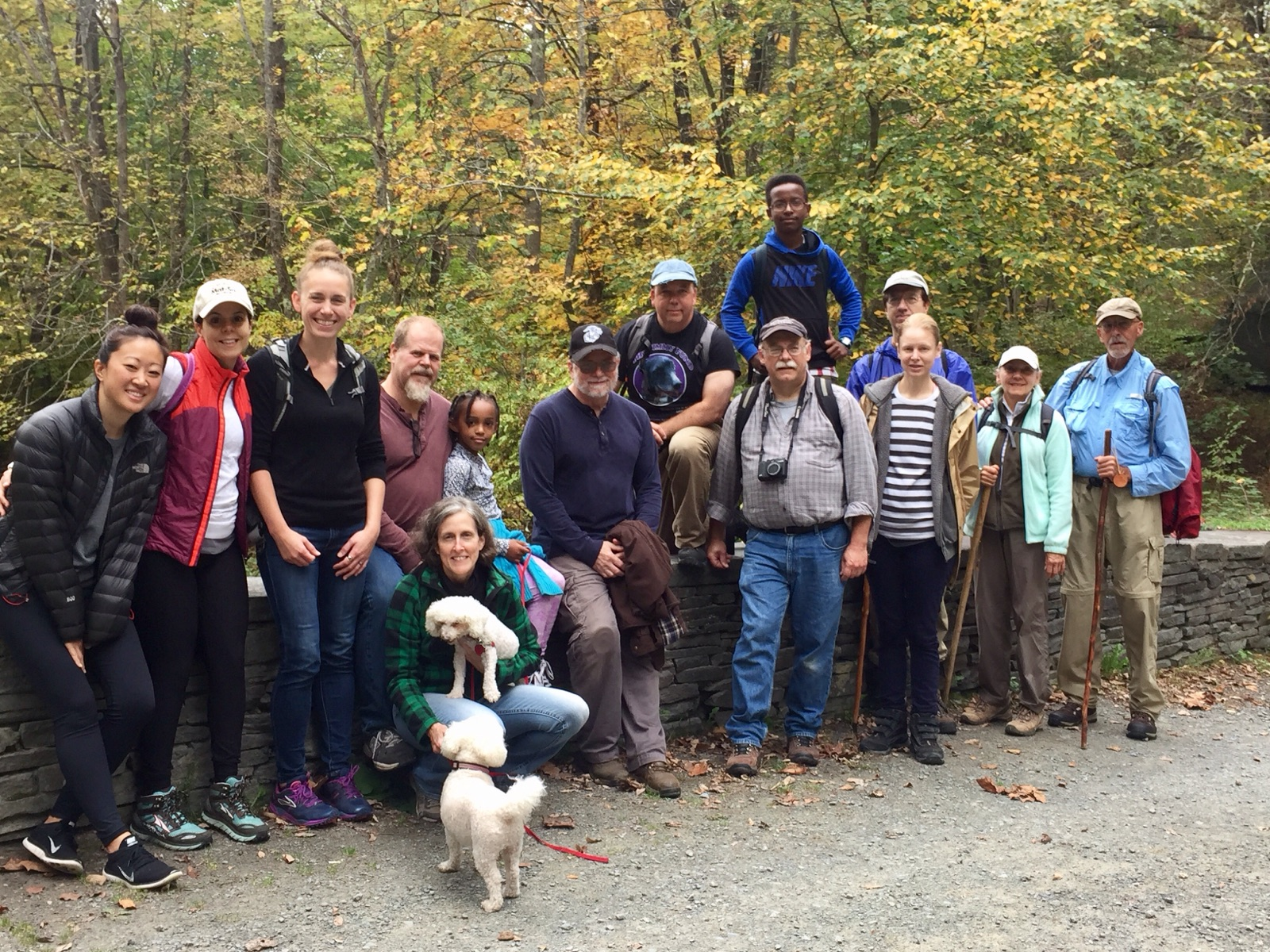 Group of hikers at the Tusten Mountain Trail.