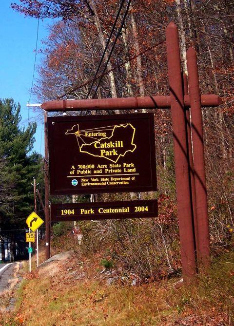 Catksill Park sign